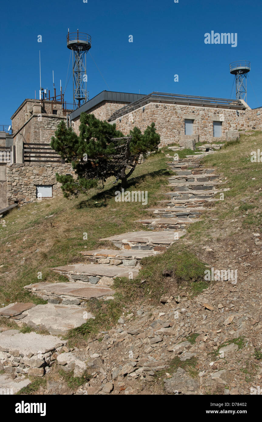 Mont Aigoual meteorological observatory in the Gard (30) departement of France - Stock Image