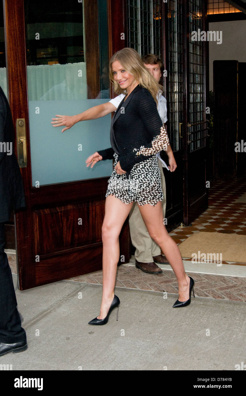 785553eb18d50 Cameron Diaz departs her hotel in a new outfit to attend the premiere of  her film 'Bad Teacher' New York City, USA - 20.06.11