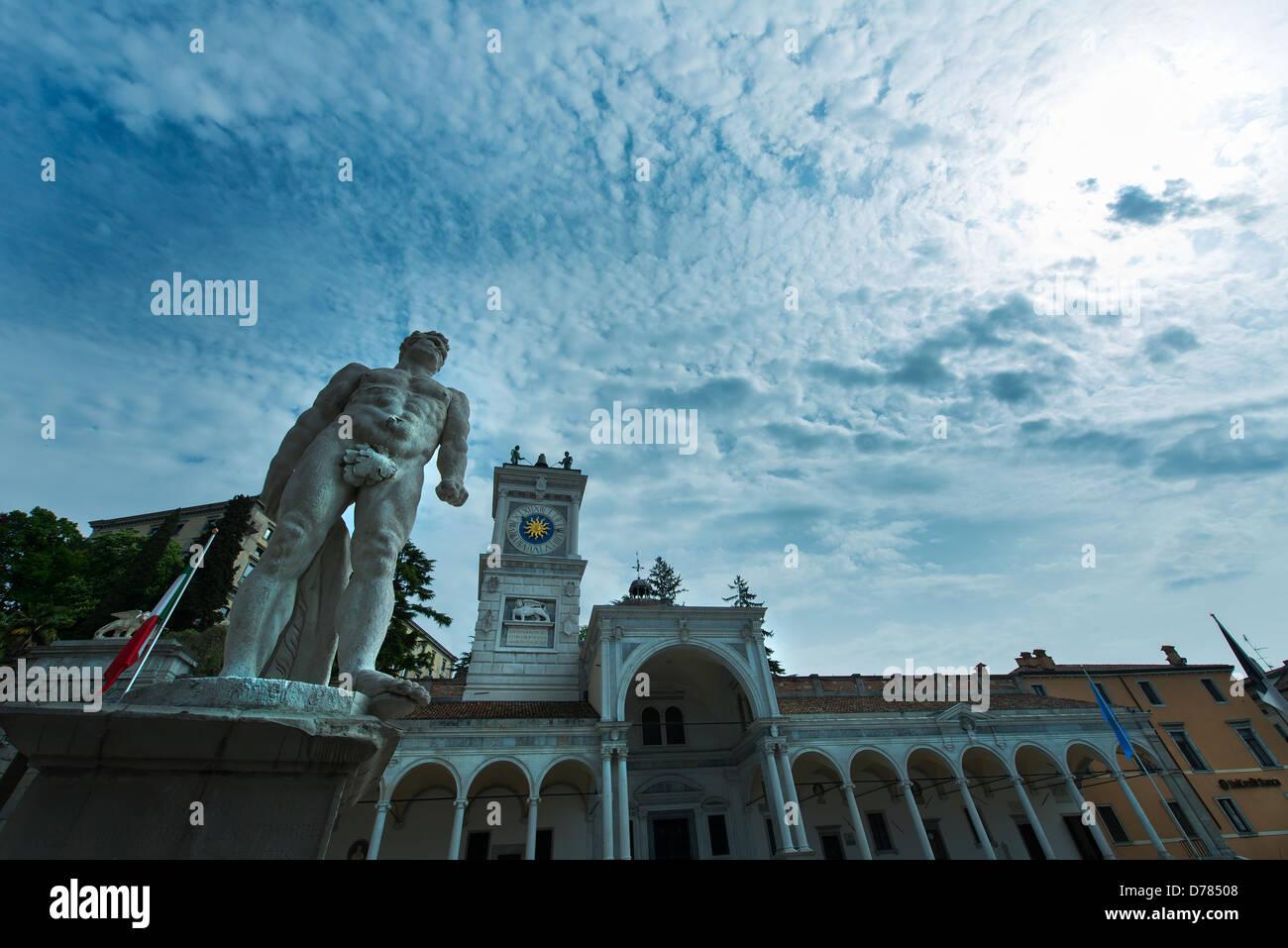The Loggia del Lionello in Piazza Libertà in Udine - Stock Image