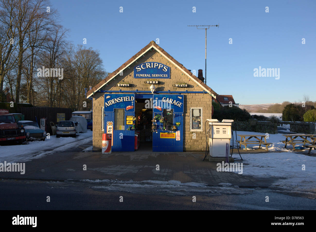 Heartbeat Garage In The Village Of Goathland In North Yorkshire