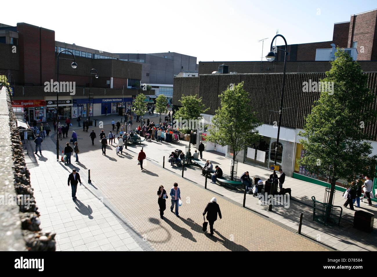 Barnsley Market area pedestrian precinct - Stock Image