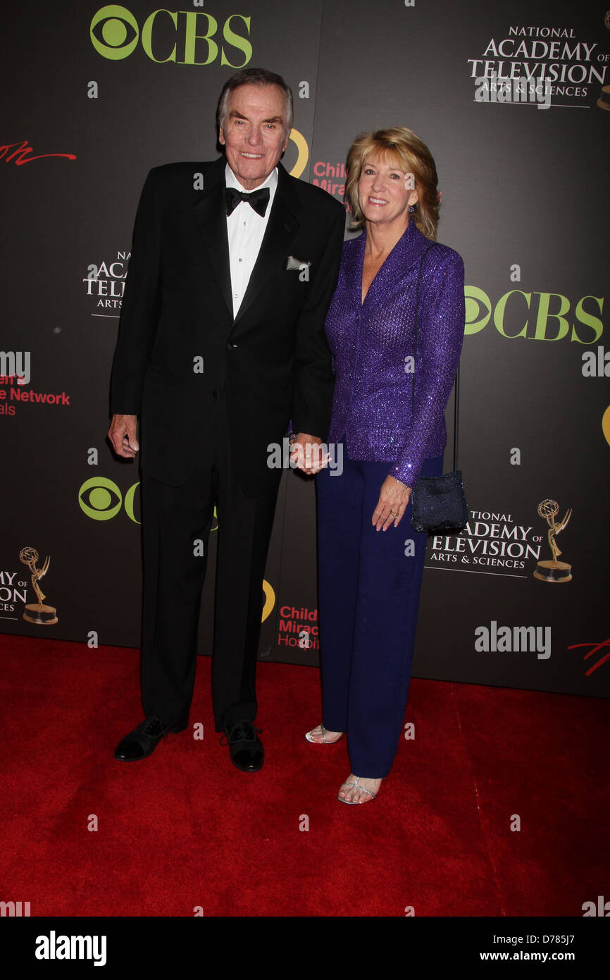Peter Marshall, Laurie Marshall Daytime Emmy Awards at the Hilton Hotel and Casino - Red Carpet Las Vegas, Nevada - Stock Image