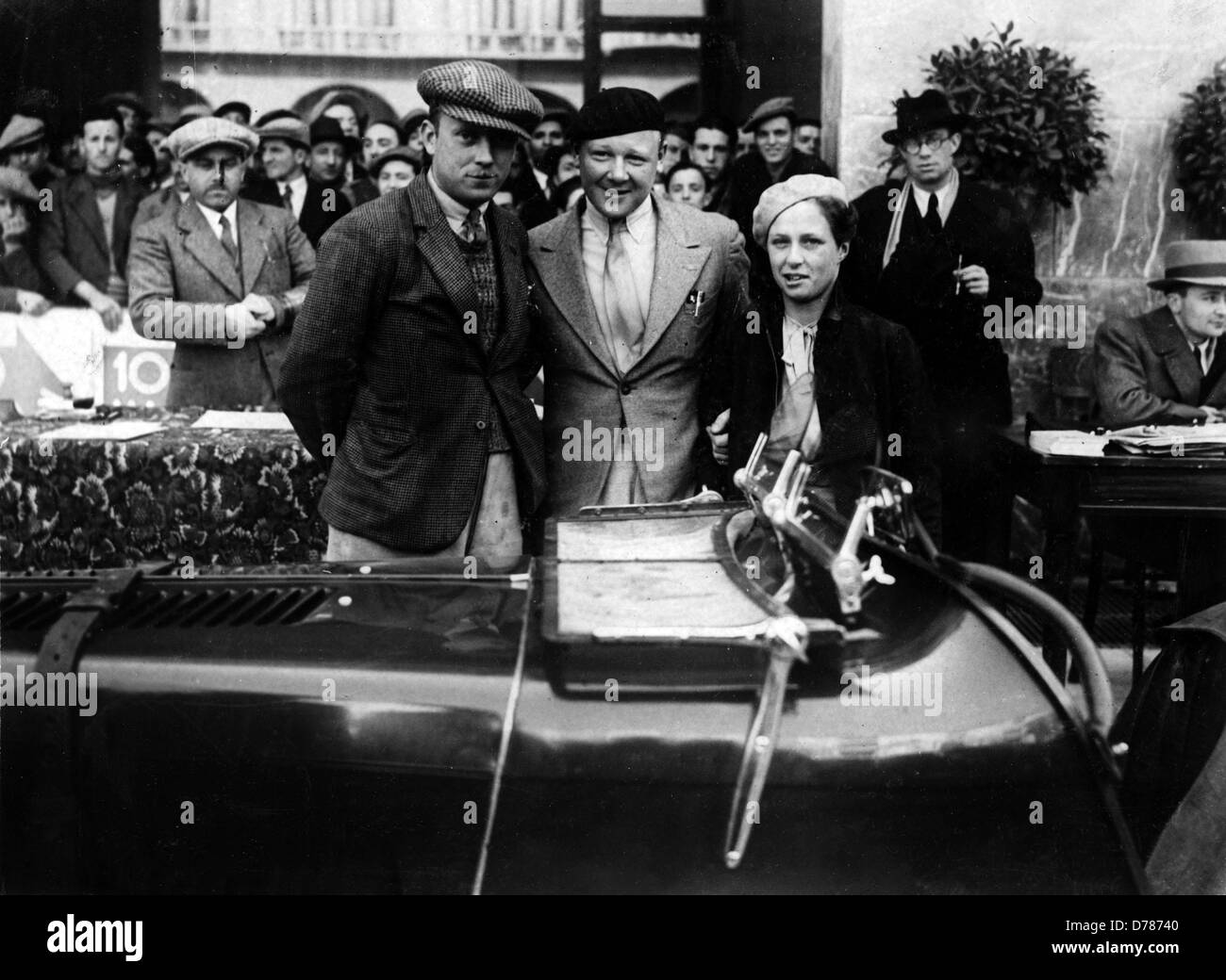 Mille Miglia 1934 MG Magnette Eddie Hall (middle) - Stock Image
