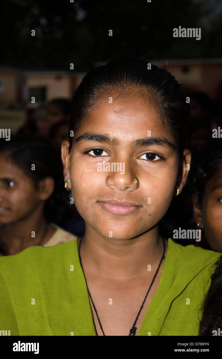 girl pupil,tala junior high school,bandhavgarh,madhya pradesh,india - Stock Image