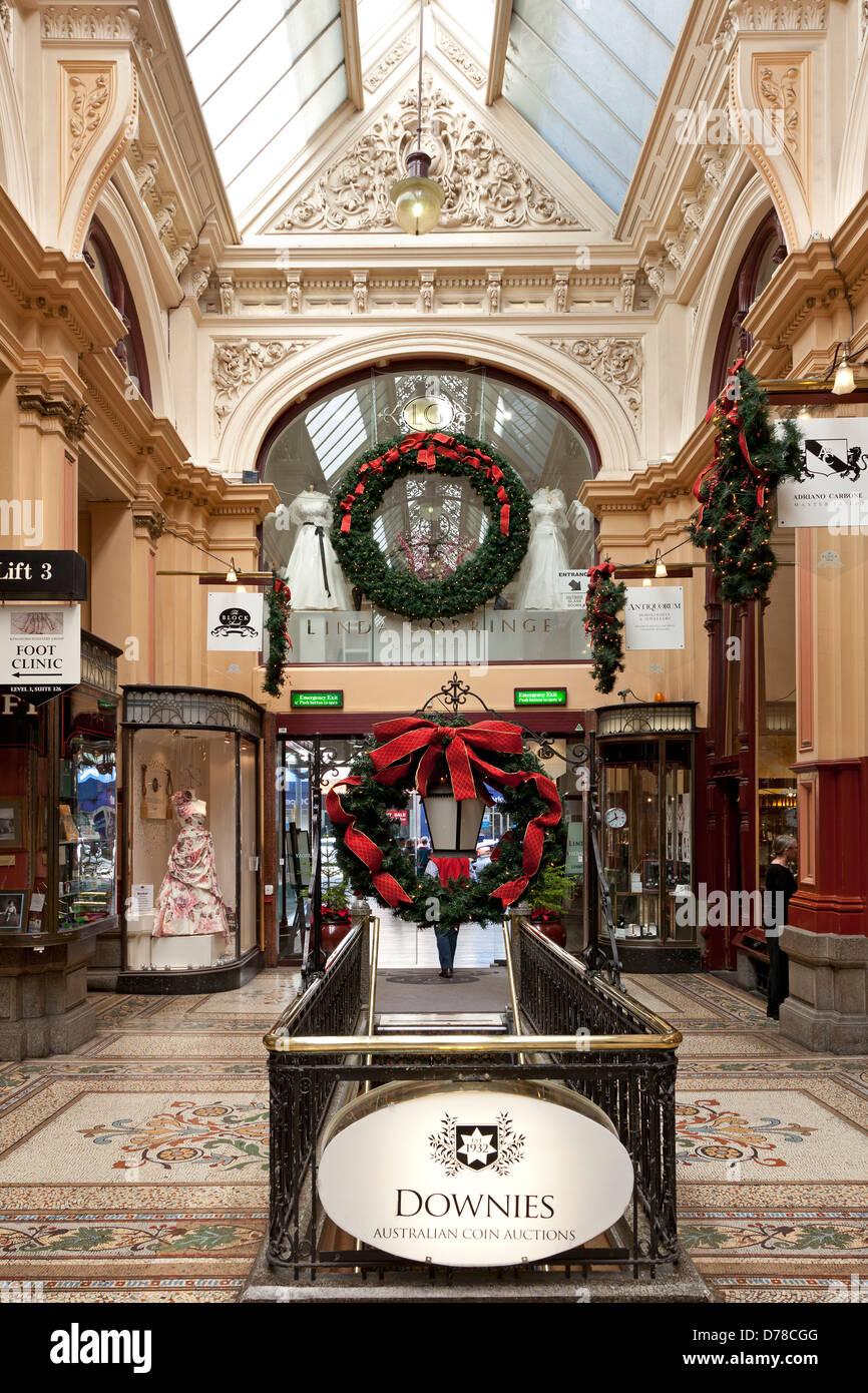 The Block Arcade in the center of Melbourne, Victoria, Australia - Stock Image