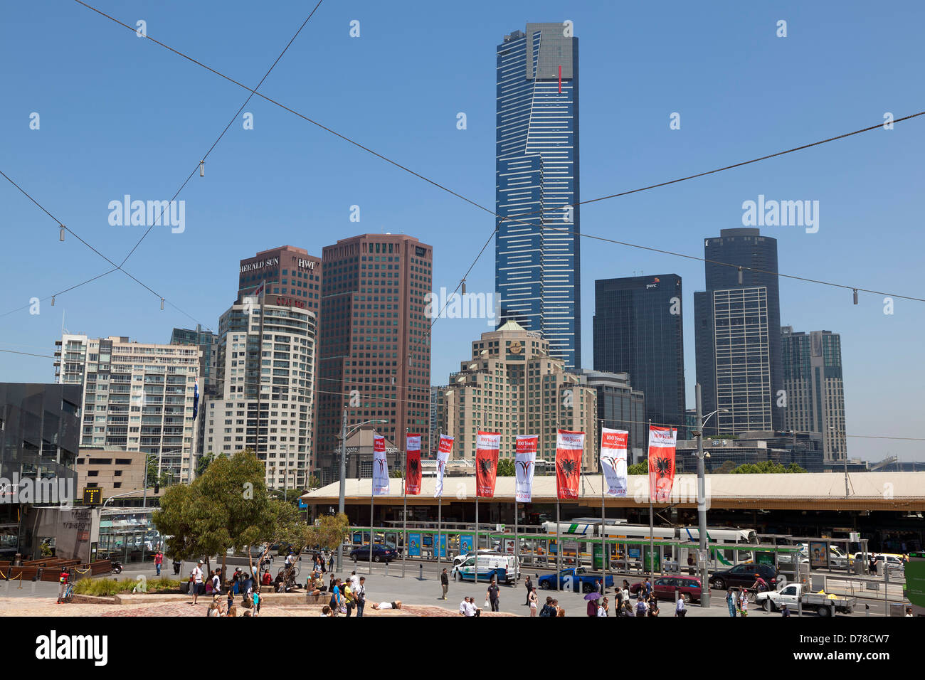View at the Eureka tower in Melbourne, Australia - Stock Image
