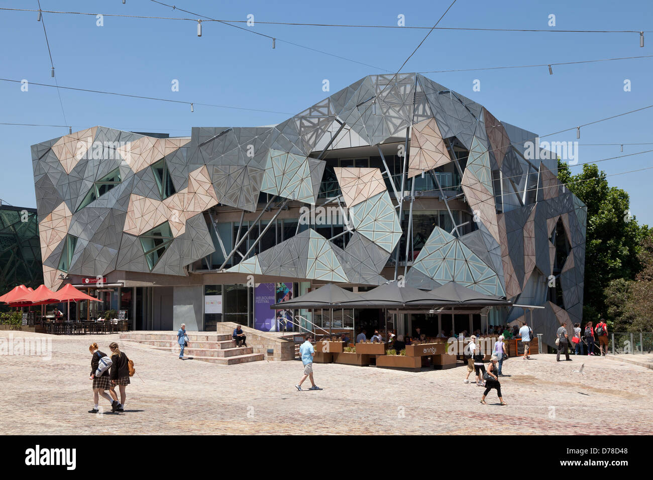 Australian Centre for the Moving Image at Federation Square, Victoria, Australia - Stock Image