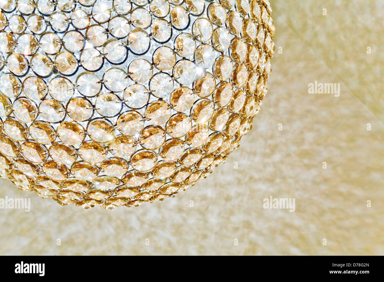 Picture of: Spherical Crystal Pendant Light Shade Stock Photo Alamy