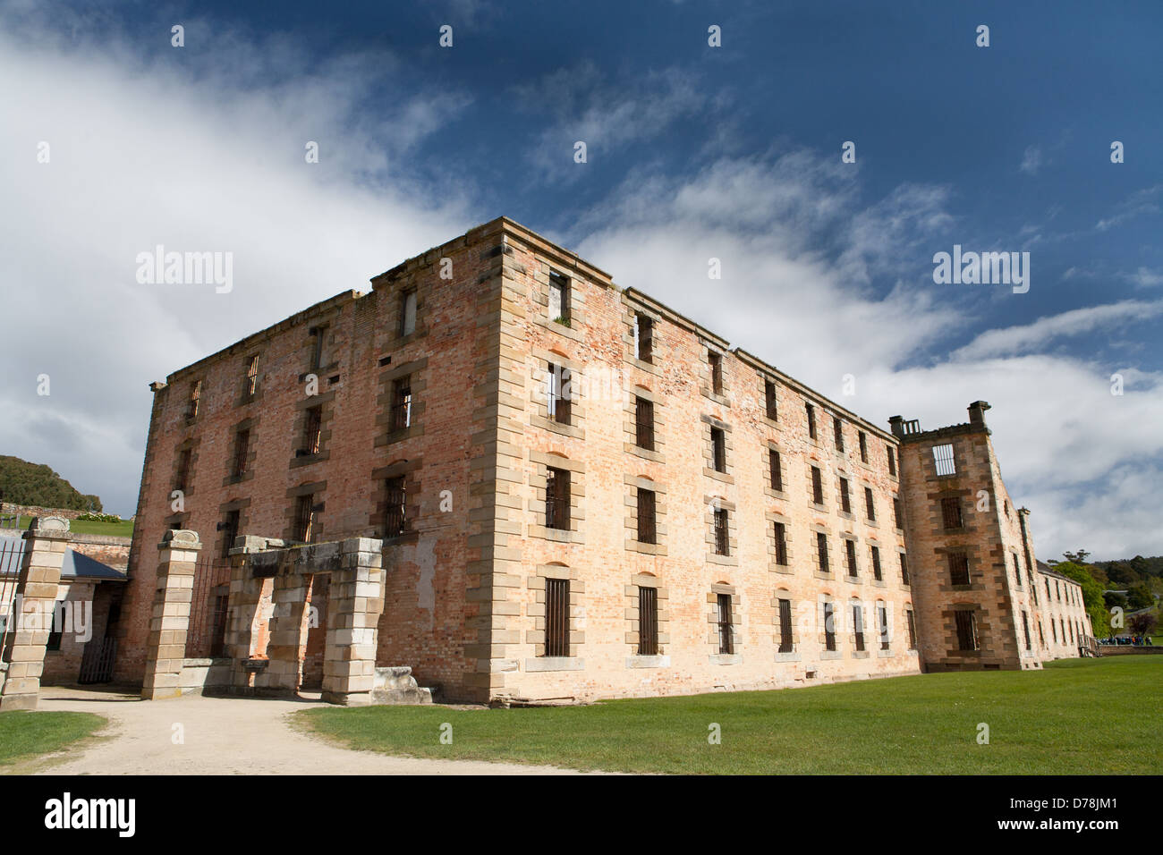The penitentiary building at Port Arthur in Tasmania, Australia - Stock Image