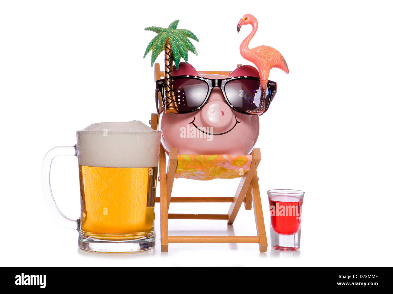 Budgeting for a stag do holiday studio cutout - Stock Image