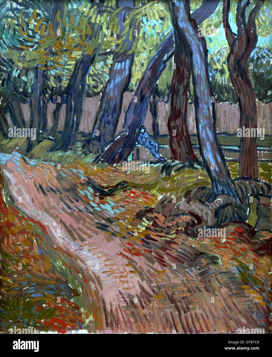 Vincent van Gogh.Path in the garden of the asylum.Siant-Rémy.november 1889. - Stock Image