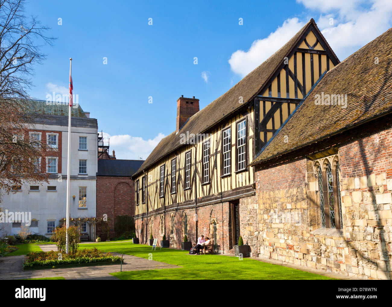 The Merchant Adventurers' Hall is a medieval guildhall in the city of York North Yorkshire England UK GB EU - Stock Image