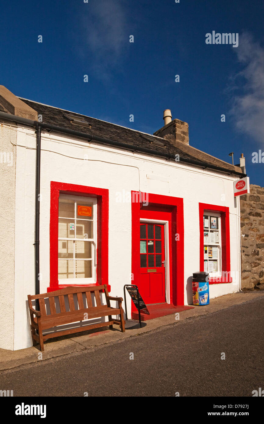 Portnahaven Post Office on the Isle of Islay - Stock Image