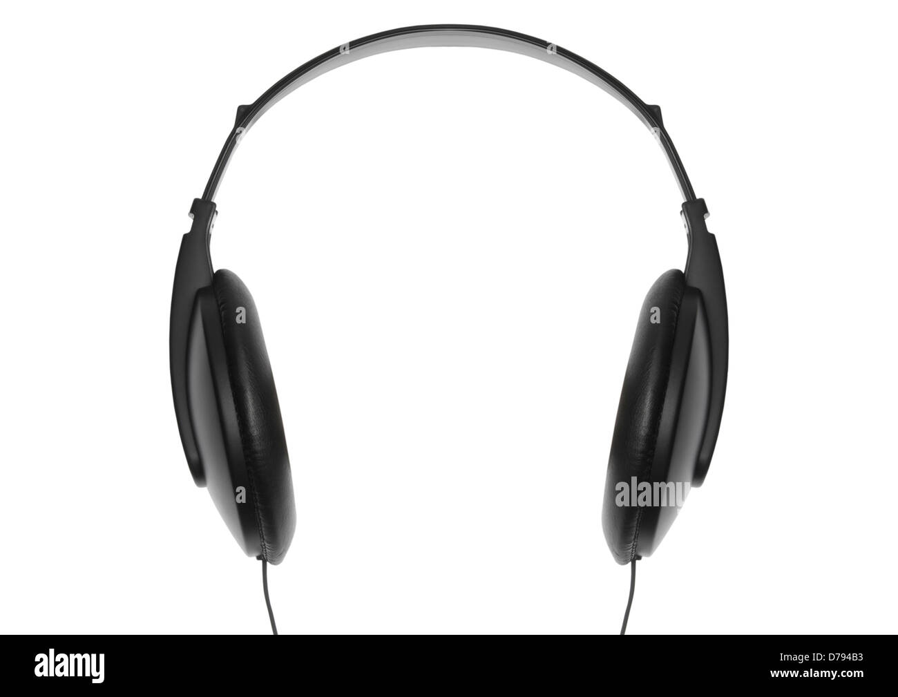 Music headphones on white background - Stock Image