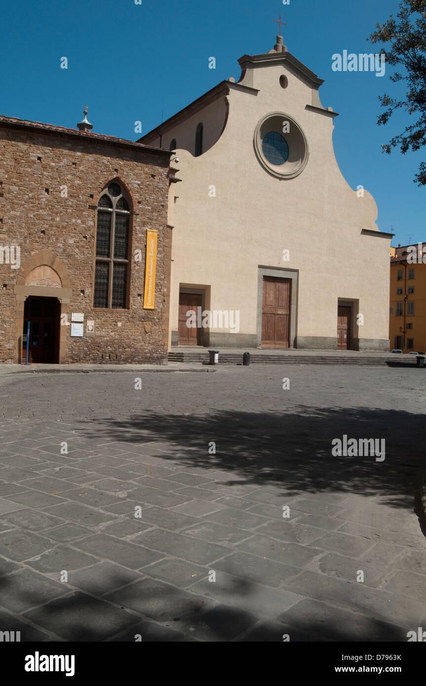 Italy, Tuscany, Florence, Church of Santo Spirito by Brunelleschi Filippo and Cenacolo di Spirito Museum Stock Photo