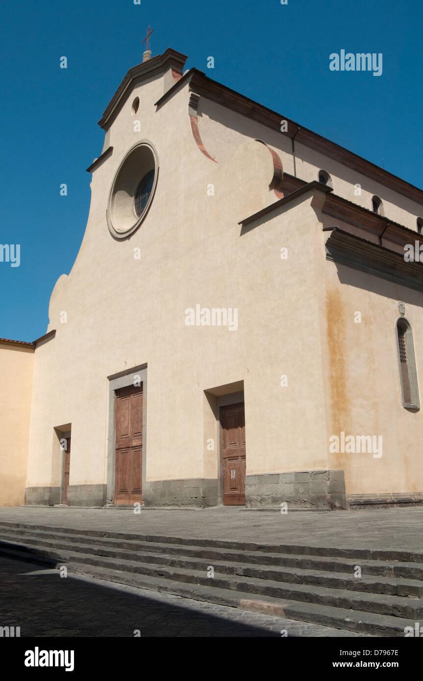 Italy, Truscany, Florence, Church of Santo Spirito by Brunelleschi Filippo - Stock Image