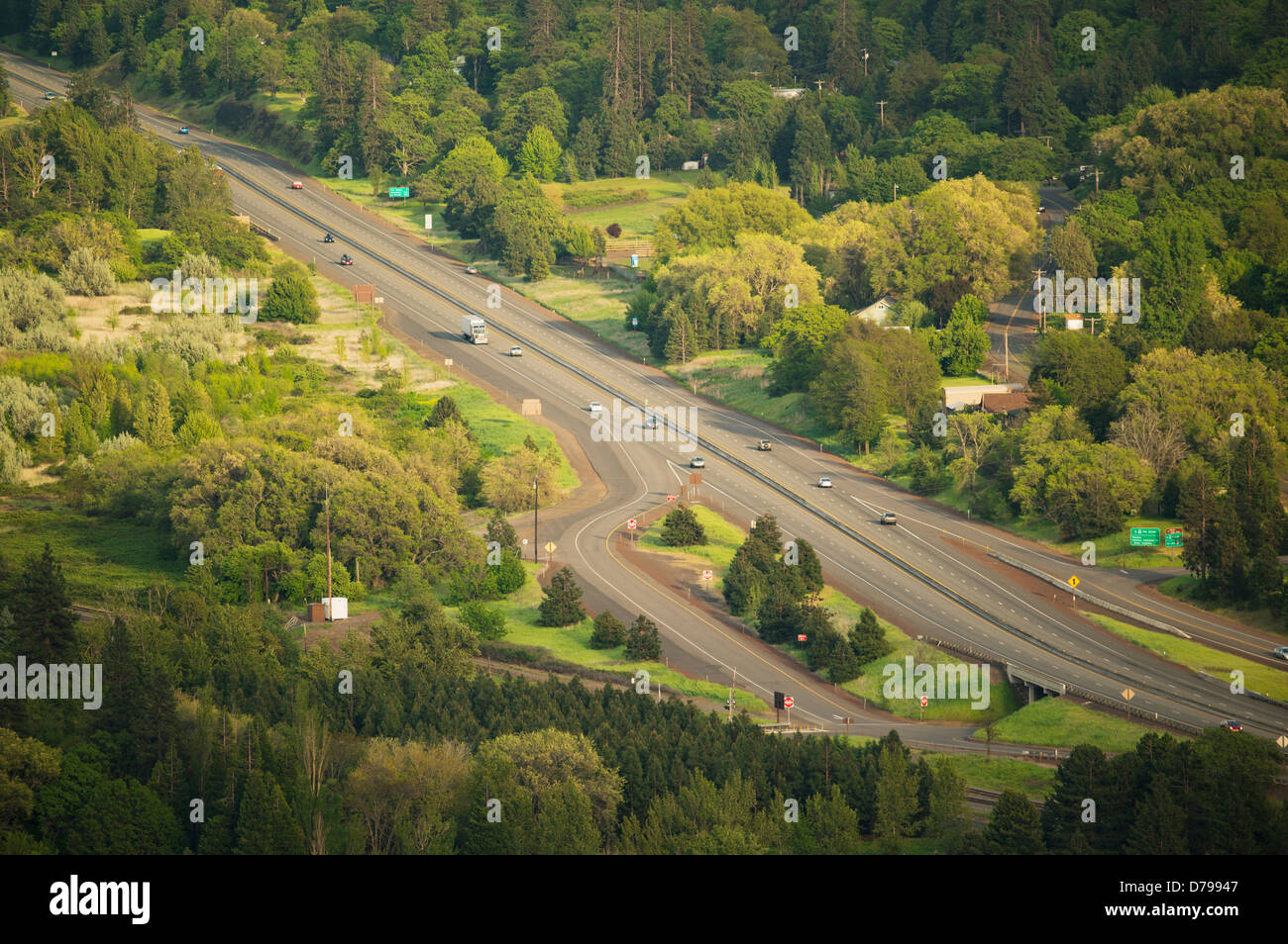 Interstate 84, Rowena, Columbia River Gorge, Oregon - Stock Image