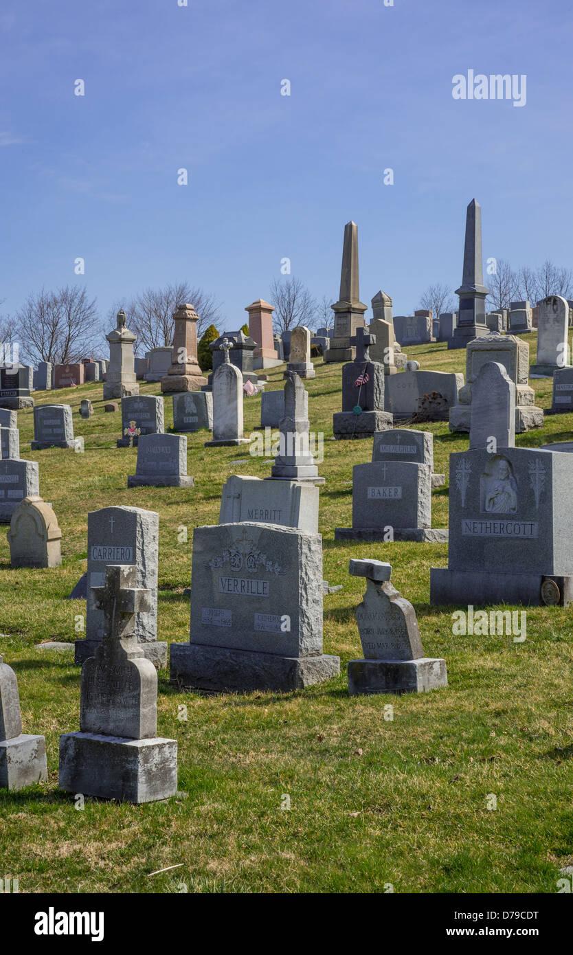 Graveyard Hill - Stock Image