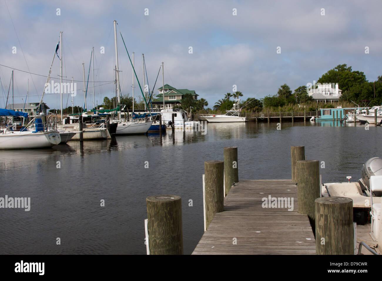 Harbor at Battery Park,  Apalachicola, FL, USA - Stock Image