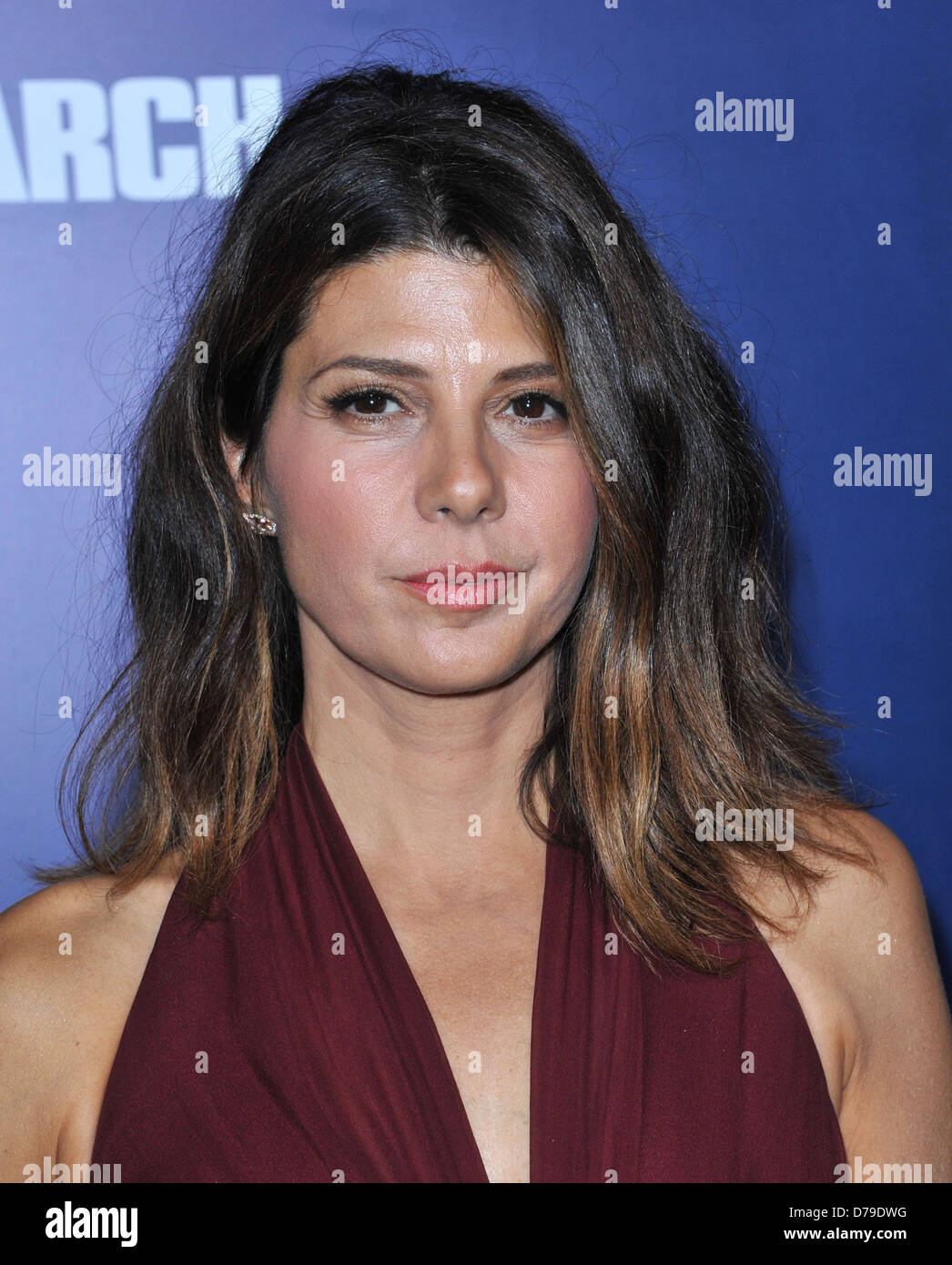 Marisa Tomei The premiere of 'The Ides Of March' held at the Academy theatre - Arrivals Los Angeles, California Stock Photo