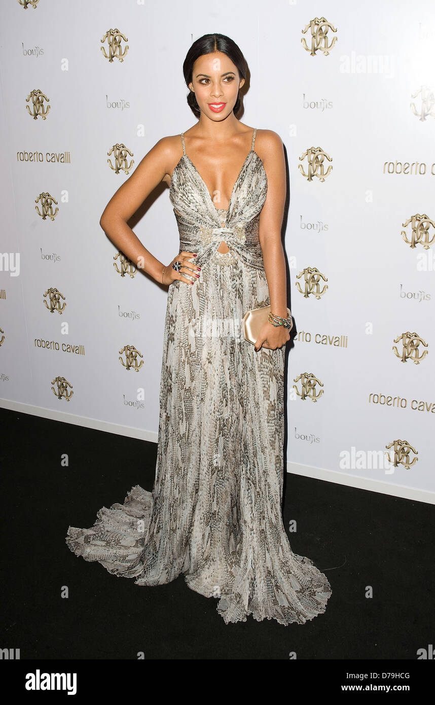 Rochelle Wiseman aka Rochelle Humes of The Saturdays London Fashion Week Spring/Summer 2012 - Roberto Cavalli boutique - Stock Image