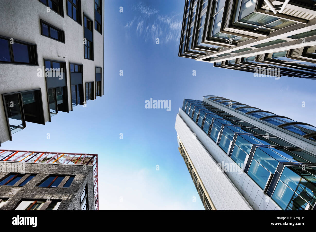 High rises in the accommodation in the sandy gate park in the harbour city of Hamburg, Germany, Europe , Hochhäuser - Stock Image