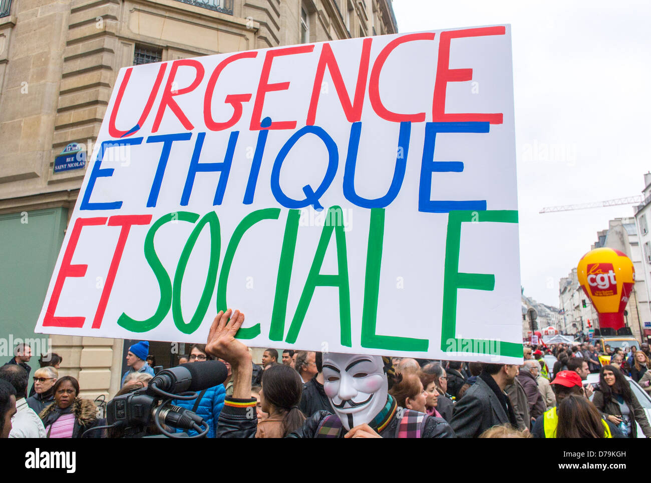 Paris France French Labor Unions Manifestation On May Labor Stock Photo Alamy