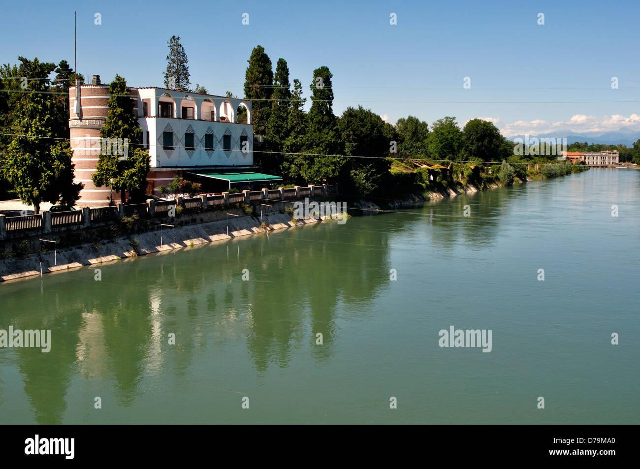 Italy, Lombardy, Cassano d'Adda, Adda River Stock Photo
