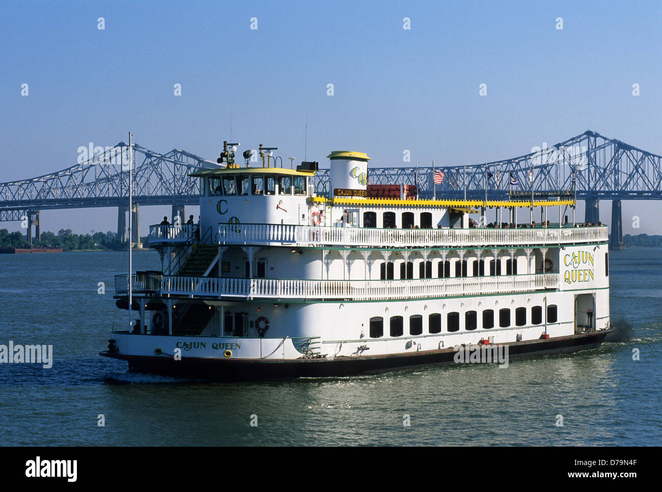 Elk283-2184 Louisiana, New Orleans, Mississippi River, sternwheeler Cajun  Queen