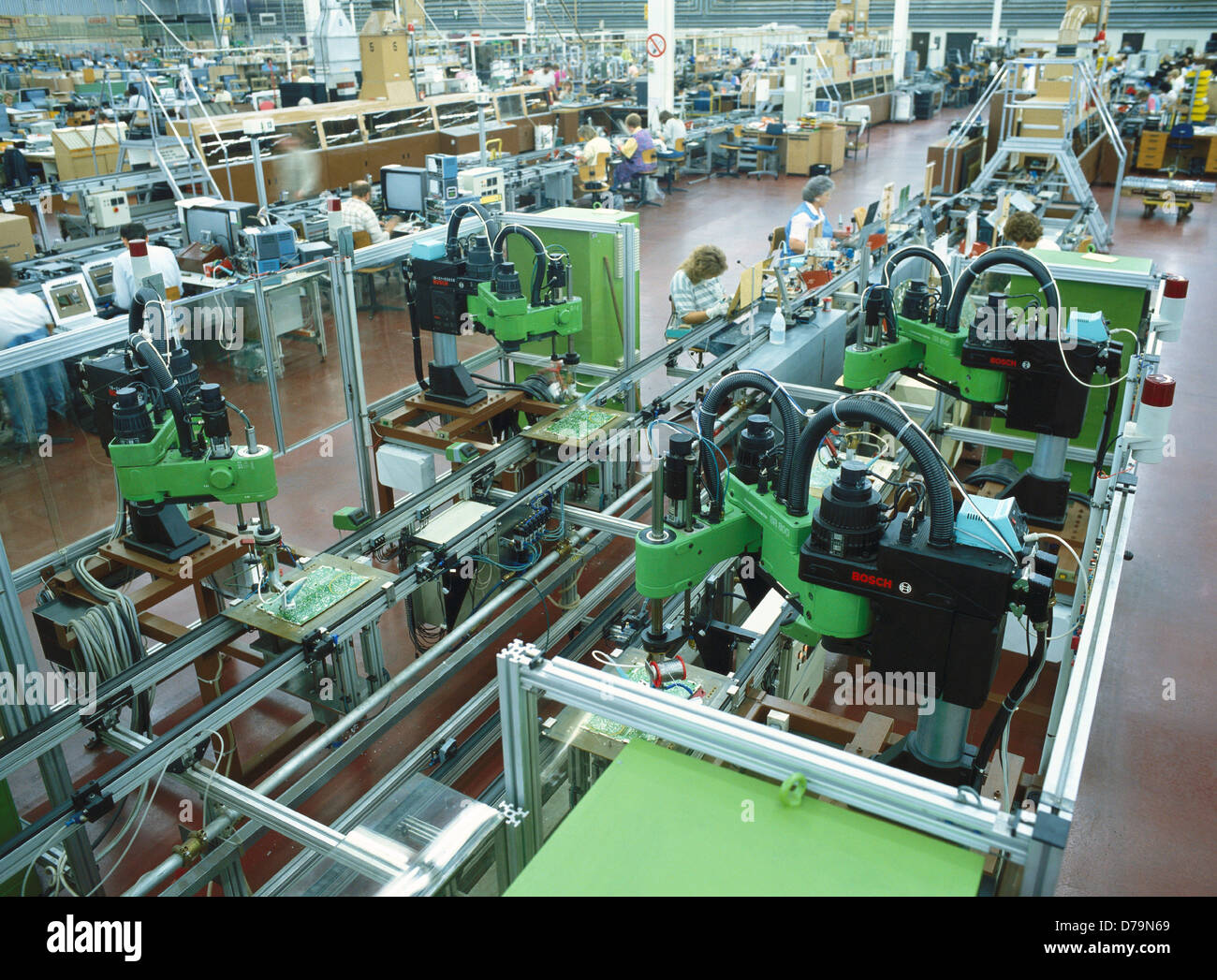 Robots And Circuit Board Stock Photos Assembly Manufacture Printed By Image