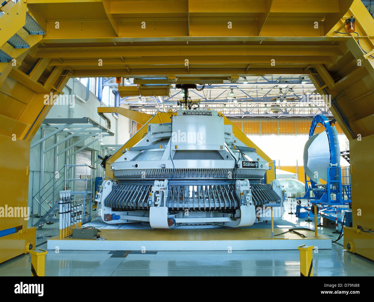 Production hall facility welding aluminum alloy - Stock Image