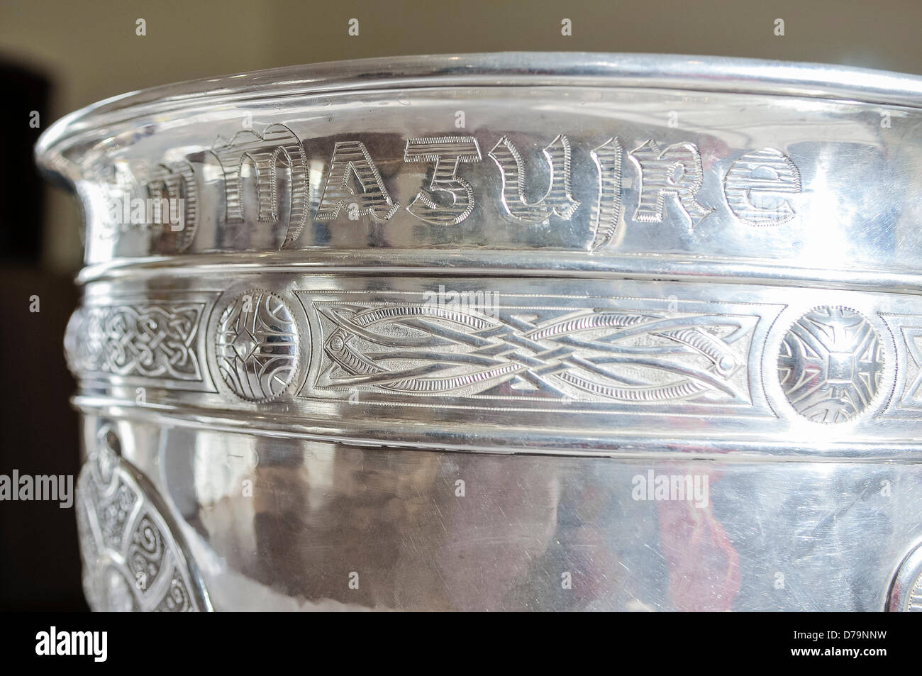 1st May 2013, Belfast, Northern Ireland.  Sam Maguire GAA gaelic football trophy cup Stock Photo