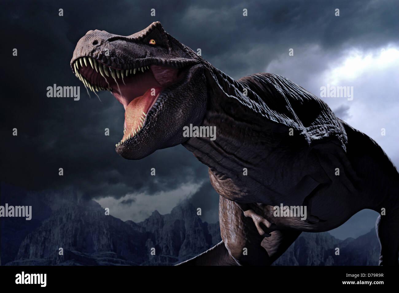 Dinosaur Tyrannosaurus) - Stock Image