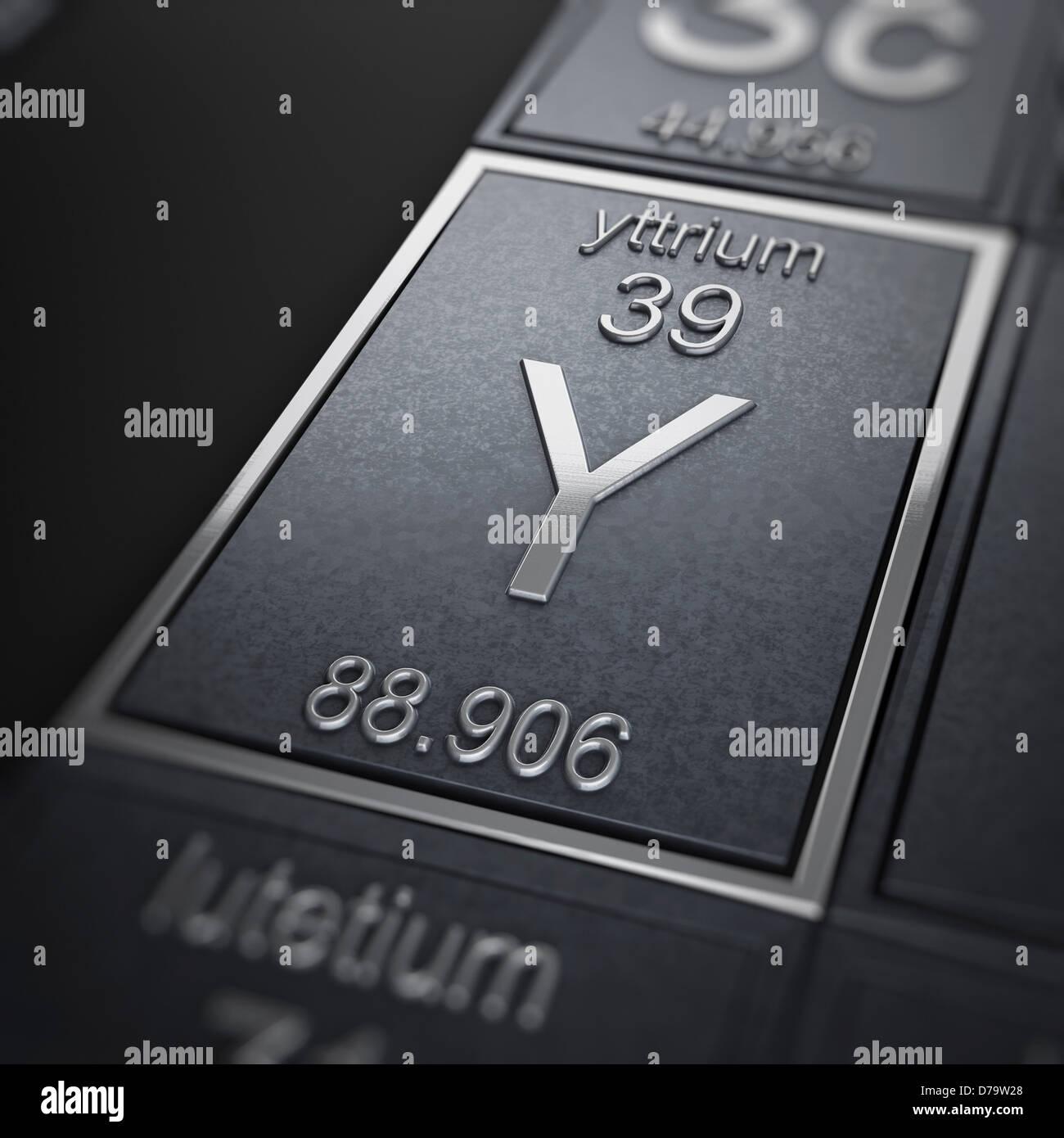 Yttrium Chemical Element Stock Photo 56150928 Alamy