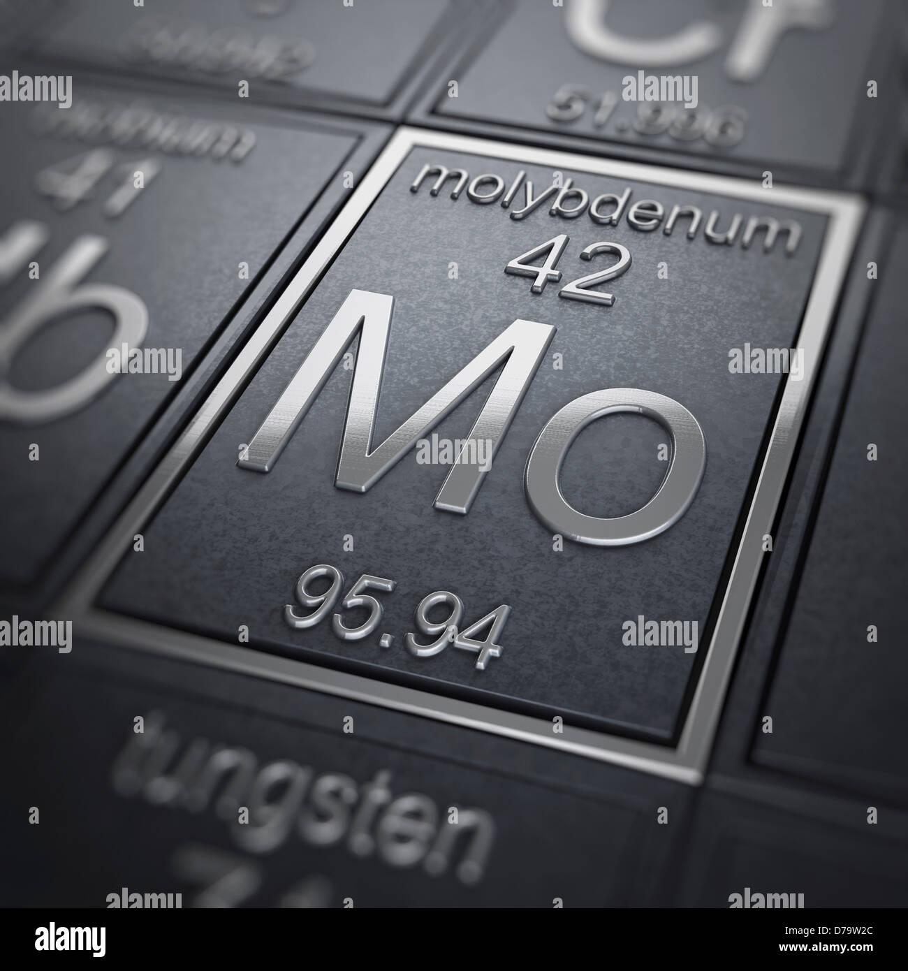 Molybdenum Chemical Element Stock Photo 56150932 Alamy