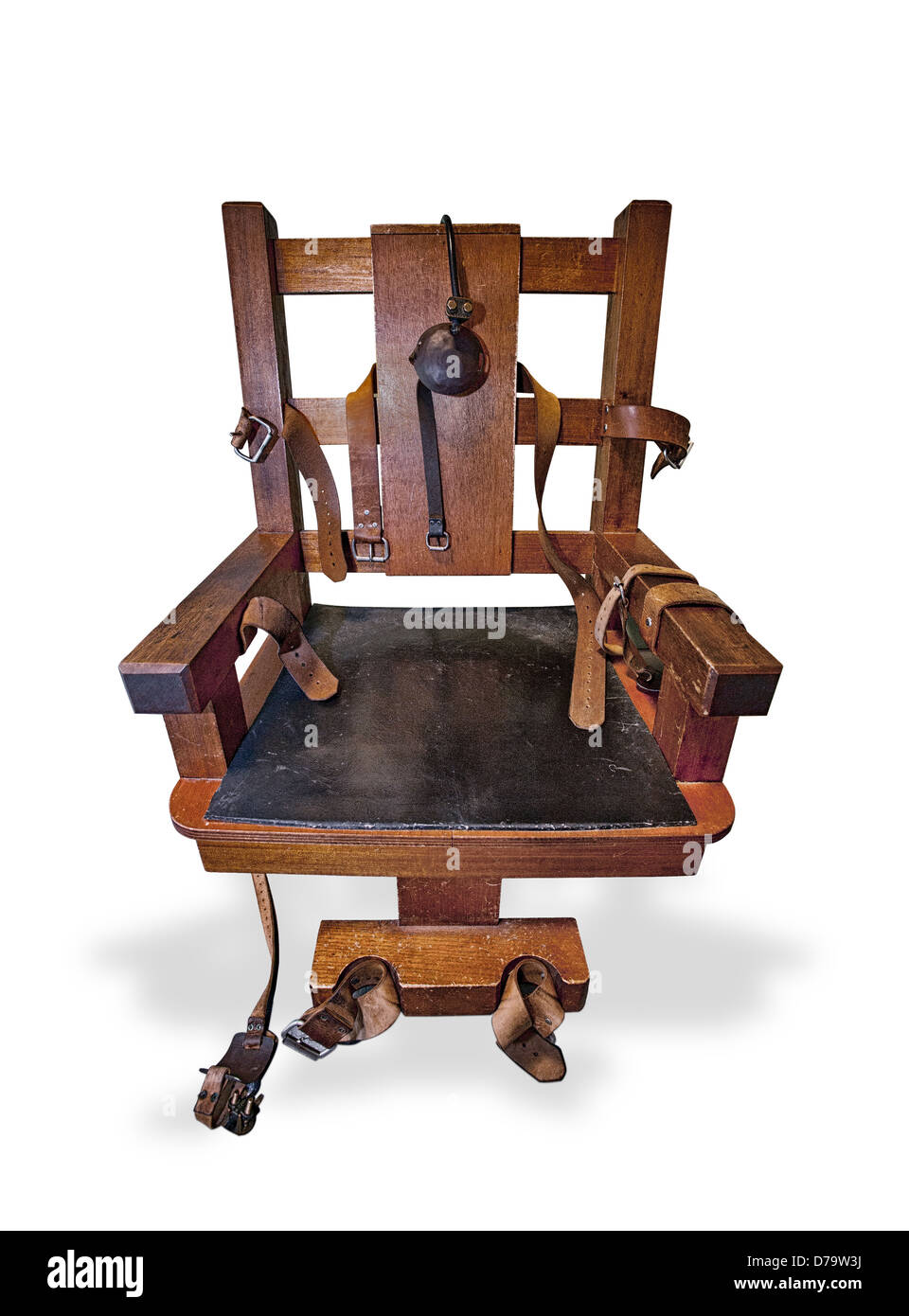 The Electric Chair. A knockout image on white - Stock Image - Electric Chair Execution Stock Photos & Electric Chair Execution
