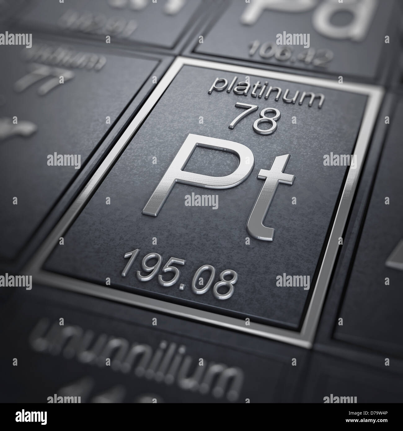 stock element of platinum design protons d render image illustration