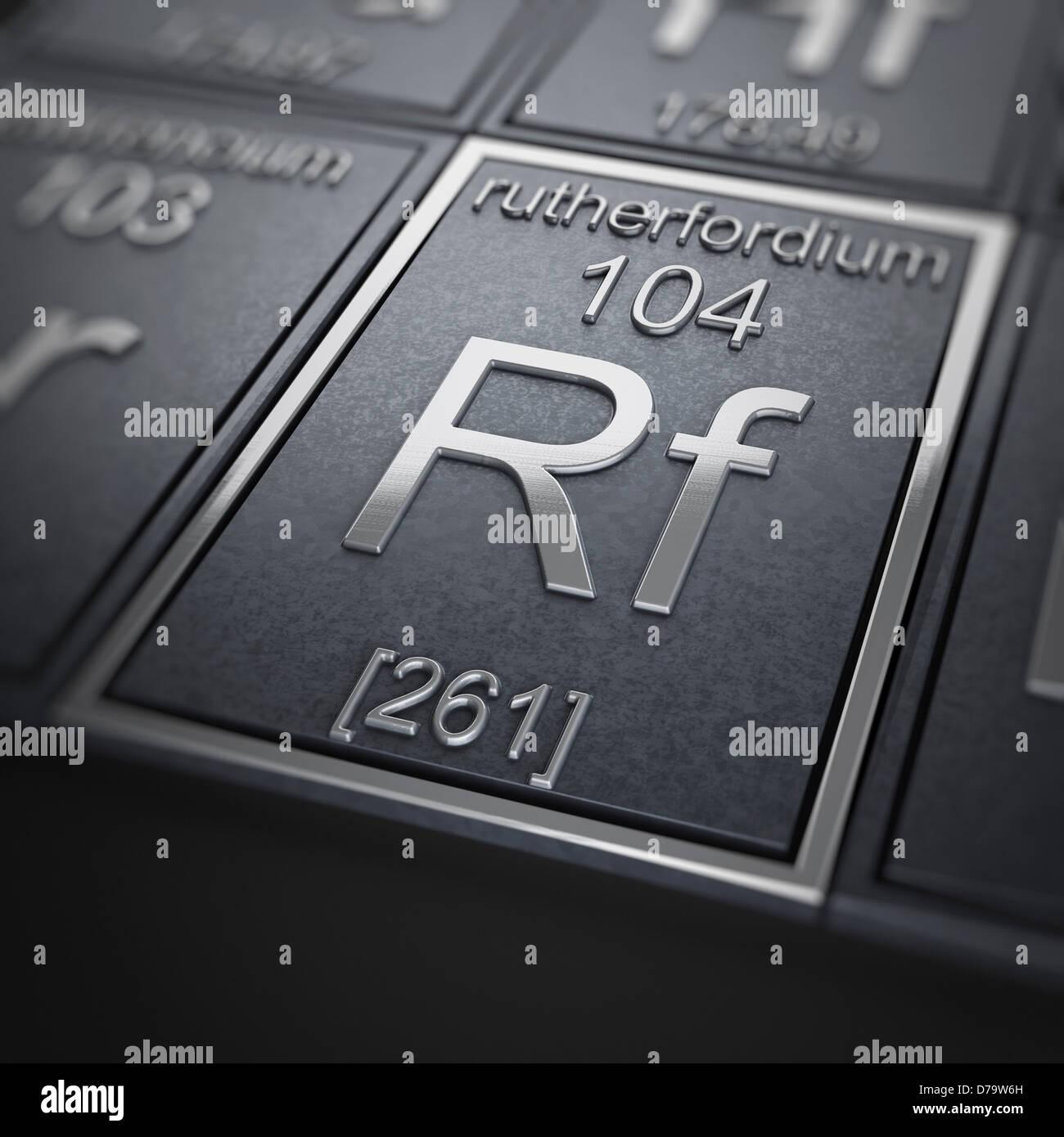 Rutherfordium Chemical Element) Stock Photo