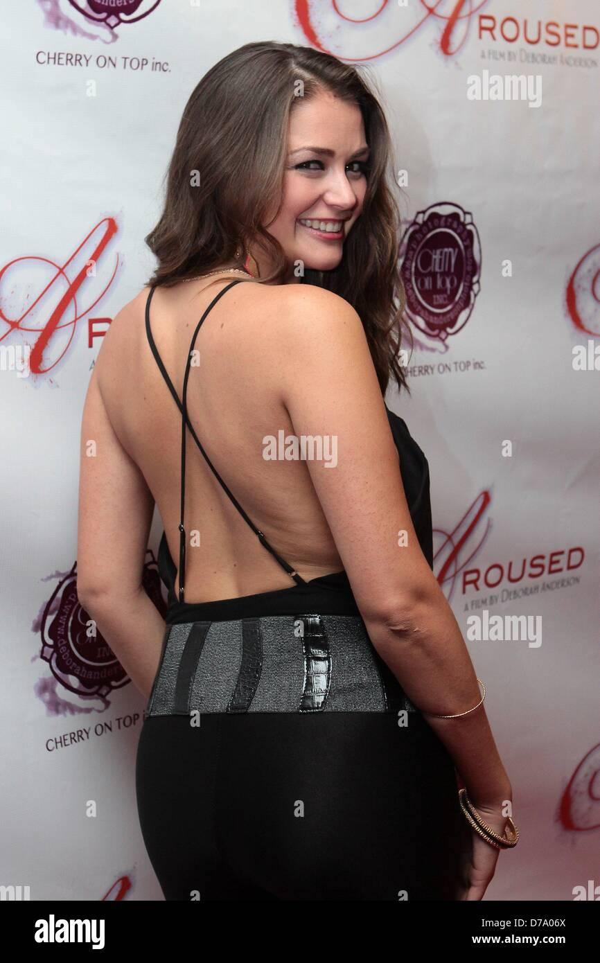 Allie Haze Attends Aroused Los Angeles Premiere 1st May 2013 At Landmark Nuart Theatre Los Angeles Ca Usa Credit Image Credit Tleopold Globe