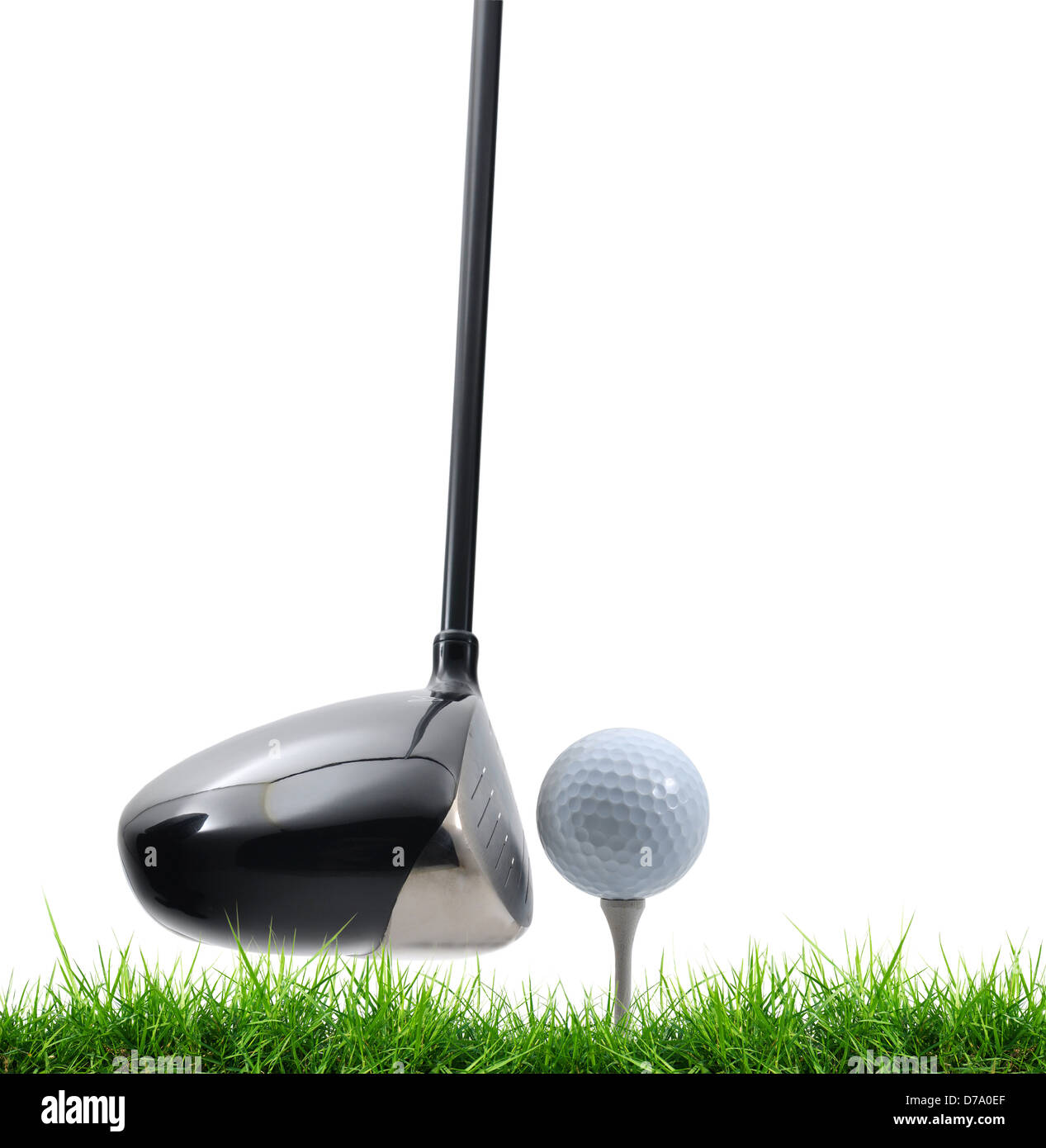 tee off on white background - Stock Image
