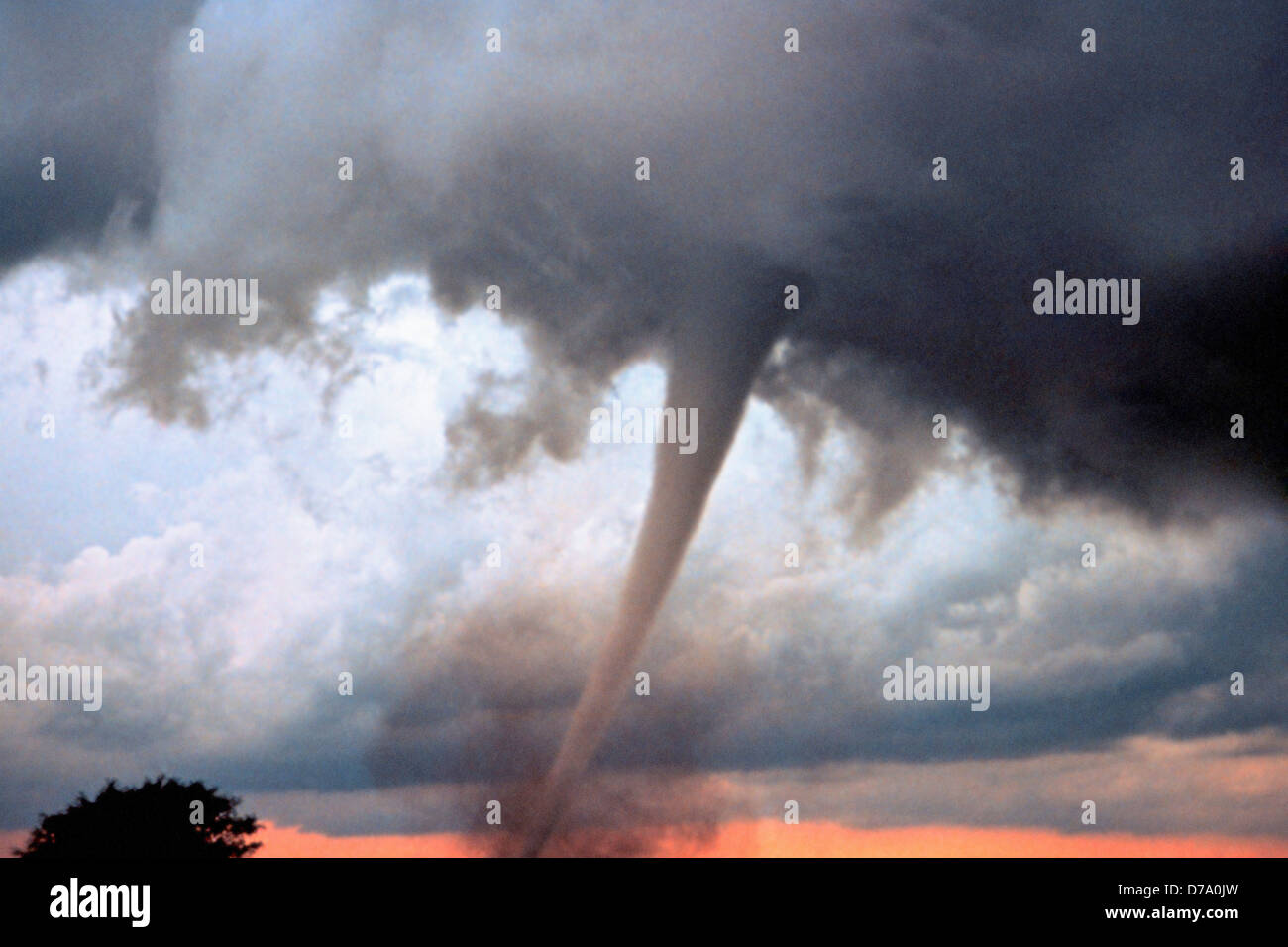 Occluded Mesocyclone Tornado Rated F3 - Stock Image
