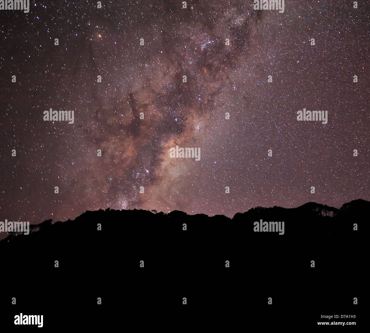 View of Milky Way and millions of stars during night at West Coast region, New Zealand - Stock Image
