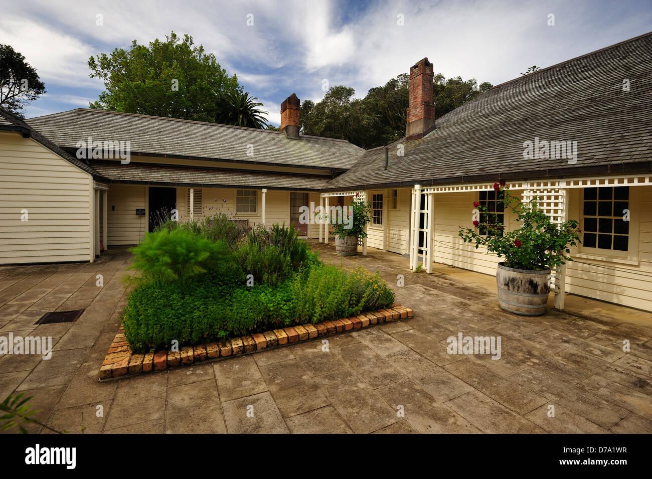 Treaty House at Waitangi Ground, Paihia New Zealand - Stock Image