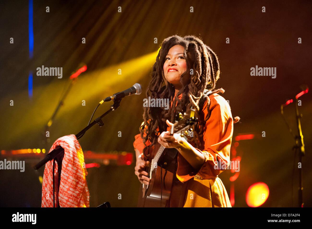 Brussels, Belgium, 30th April 2013. American singer songwriter Valerie June in concert at the Rotonde, Botanique, - Stock Image