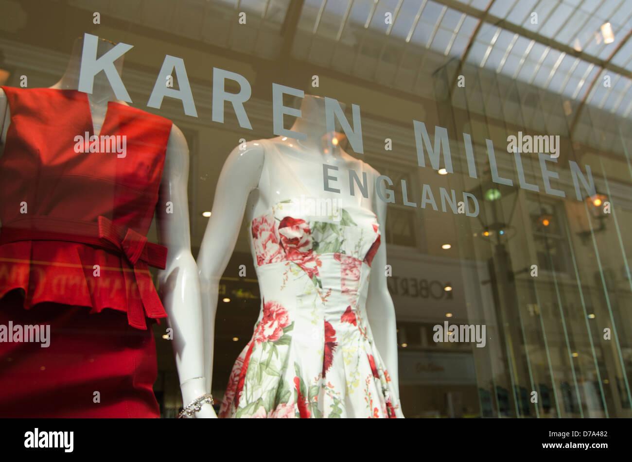 Shop Window Karen Millen Bournemouth - Stock Image