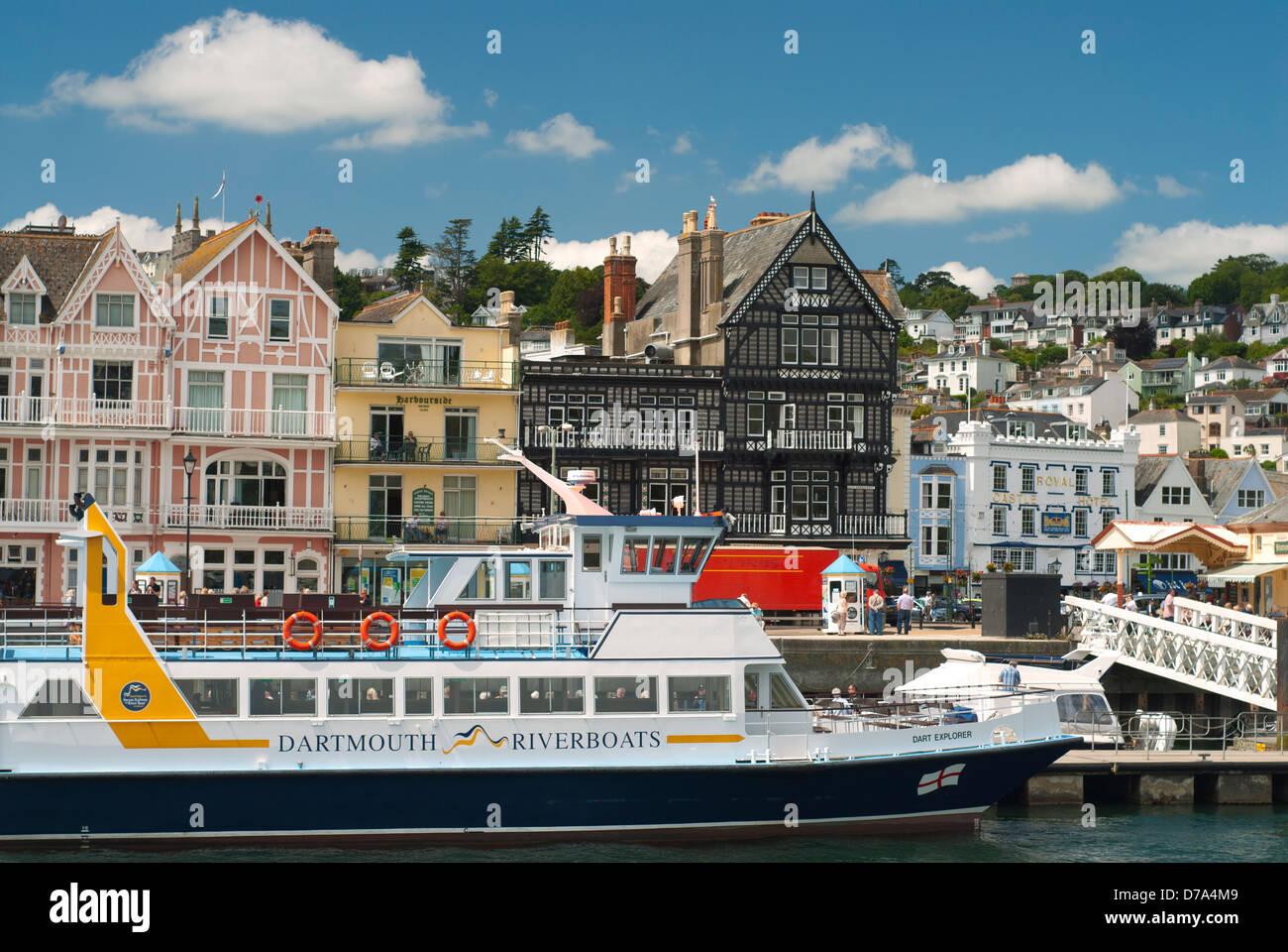 Pleasure Cruises at Dartmouth Devon - Stock Image