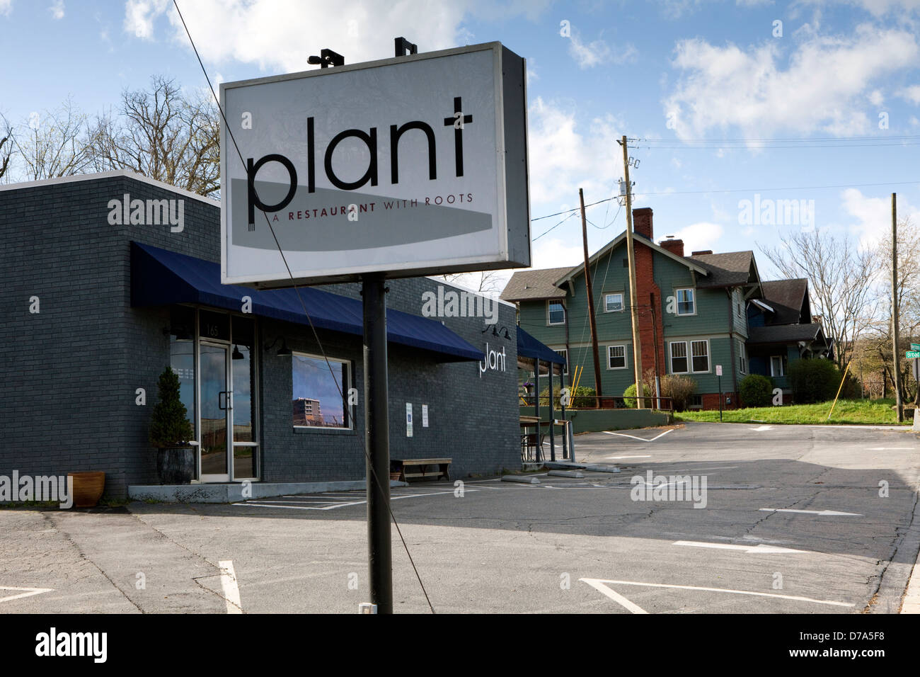 A view of the Plant restaurant in Asheville, North Carolina - Stock Image