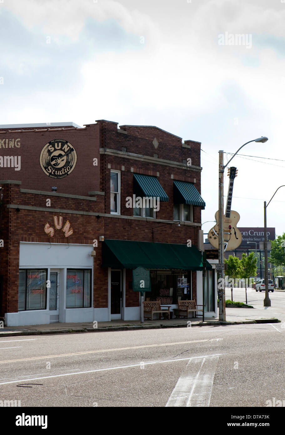 A view of the exterior of Sun Studio in Memphis, Tennessee - Stock Image