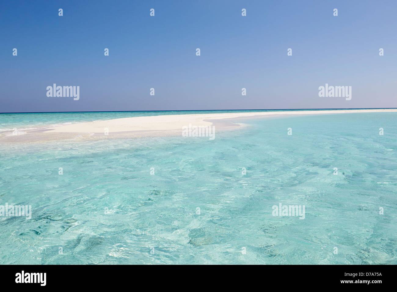 Beautiful Deserted Beach Stock Photo