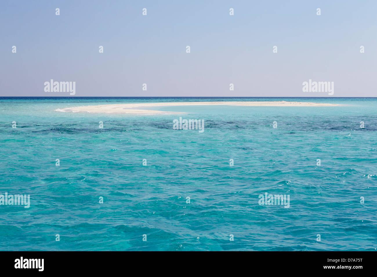 Beautiful Deserted Beach - Stock Image